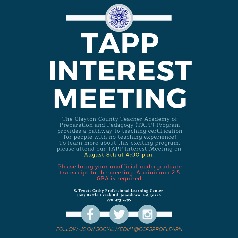 TAPP Interest Meeting August